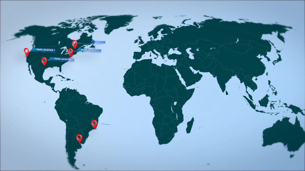 World map marker location pins after effects templates 10460823 stills sciox Images