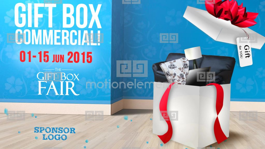 Gift Box After Effects Template Free Diy Customized Cupcake Donut - After effects commercial template free