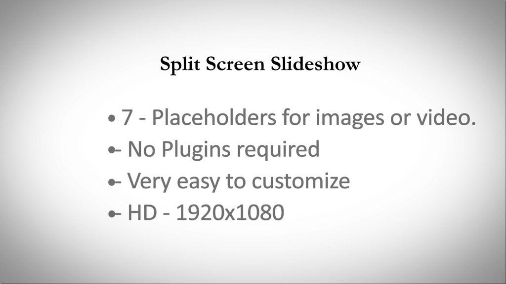 split screen slideshow after effects templates 9131311. Black Bedroom Furniture Sets. Home Design Ideas