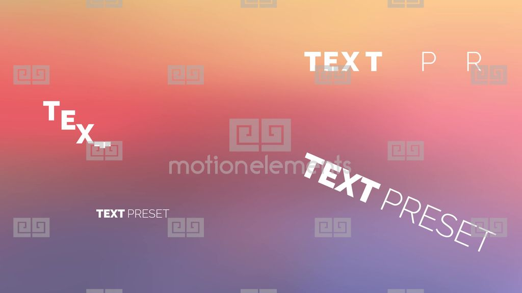 38 text preset after effect after effects template for Free after effects text templates
