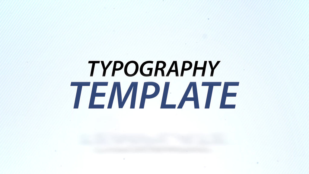 clean typography after effects template after effects templates 1757722