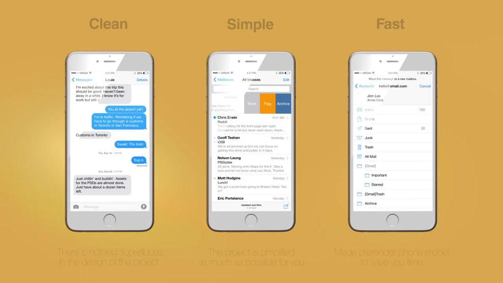 phone 6 app promo after effects templates 6364535. Black Bedroom Furniture Sets. Home Design Ideas