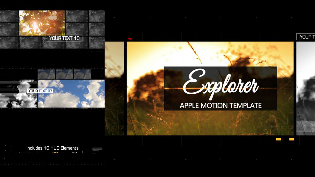 Explorer Apple Motion And Final Cut Pro X Template Apple