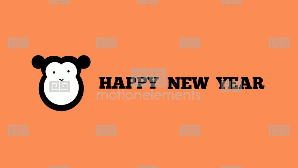 Happy New Year 2016 With Monkey After Effects Template | Royalty-Free ...