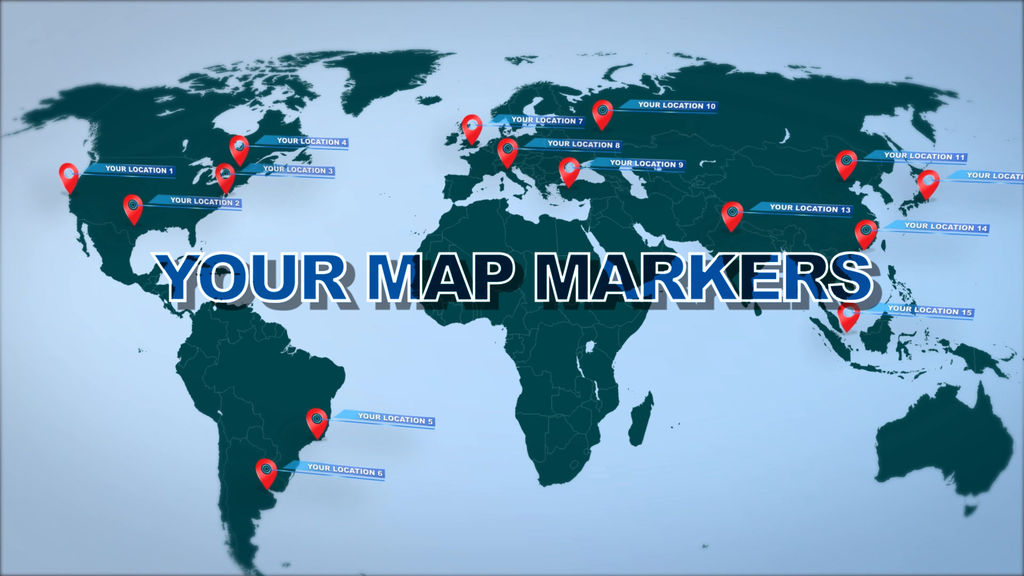 World map marker location pins after effects templates 10460823 stills gumiabroncs Images