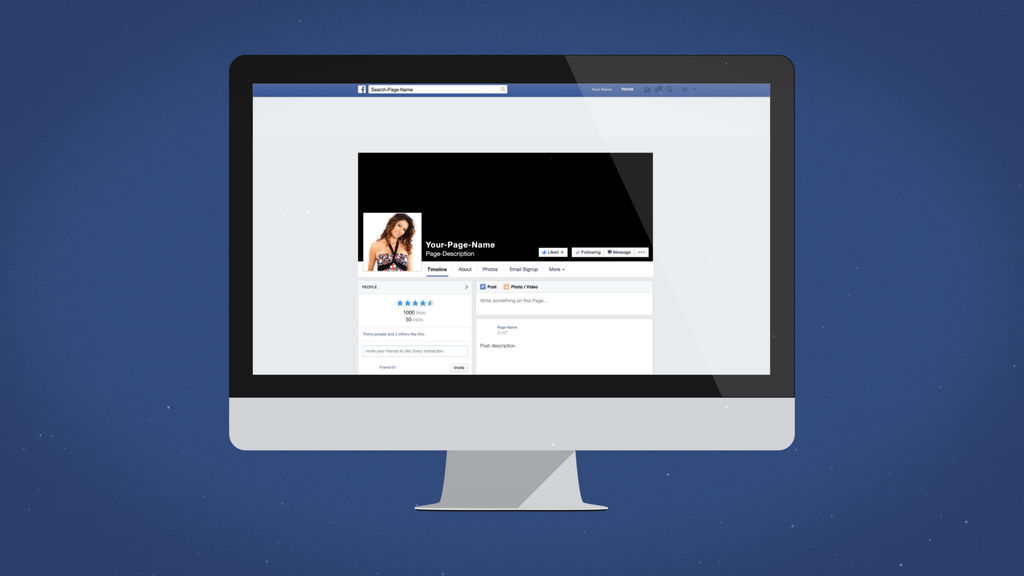 Facebook Desktop Intro - Apple Motion And Final Cut Pro X Template Apple  Motion templates
