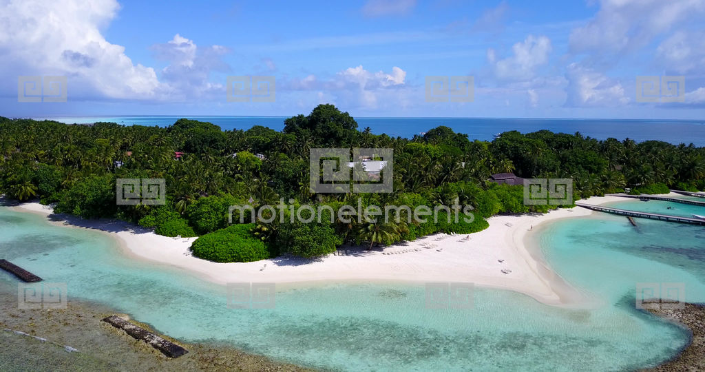 v10683 maldives white sand beach tropical islands with drone aerial