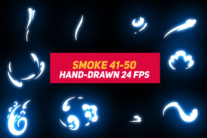 Liquid Elements Smoke 41-50 After Effects templates