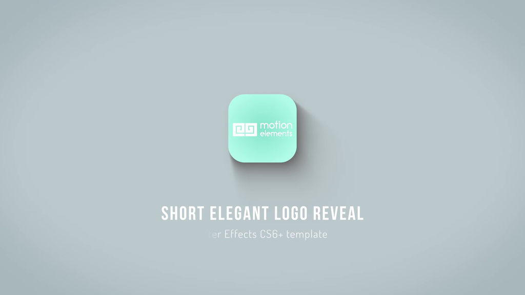 Short Elegant Logo Reveal After Effects Templates 11530444