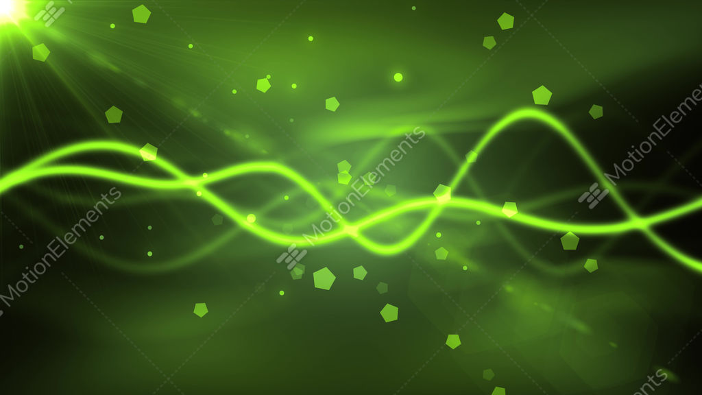 Greenish Wave Particles GIF