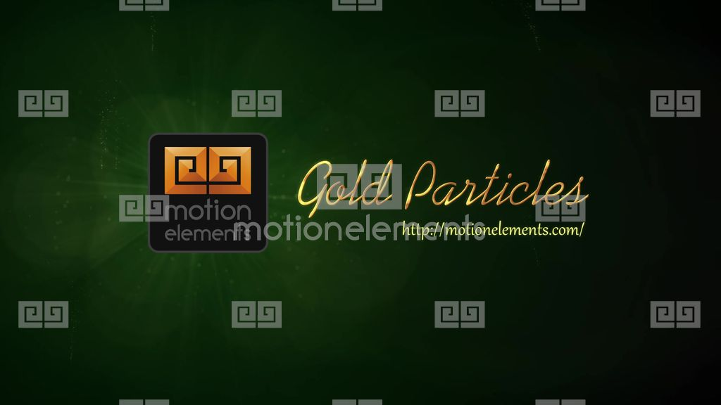 Gold Particles Logo Reveals After Effects templates | 9531908