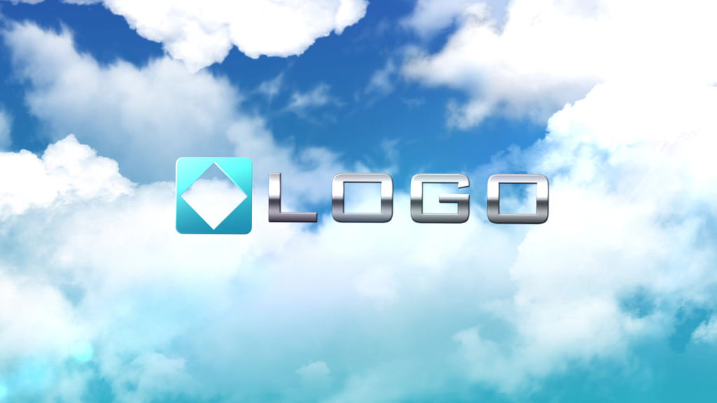 clouds logo reveal elegant sky zoom out light animation