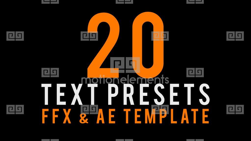 Text animated presets after effects templates 2324038 stills maxwellsz
