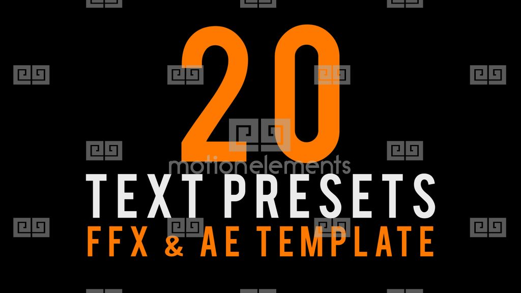 Text Animated Presets After Effects Templates