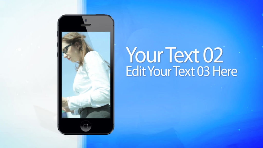 Moving Phone 15s Commercial After Effects Template After