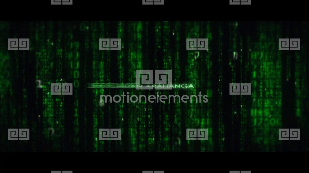 matrix movie end title ae template after effects templates. Black Bedroom Furniture Sets. Home Design Ideas