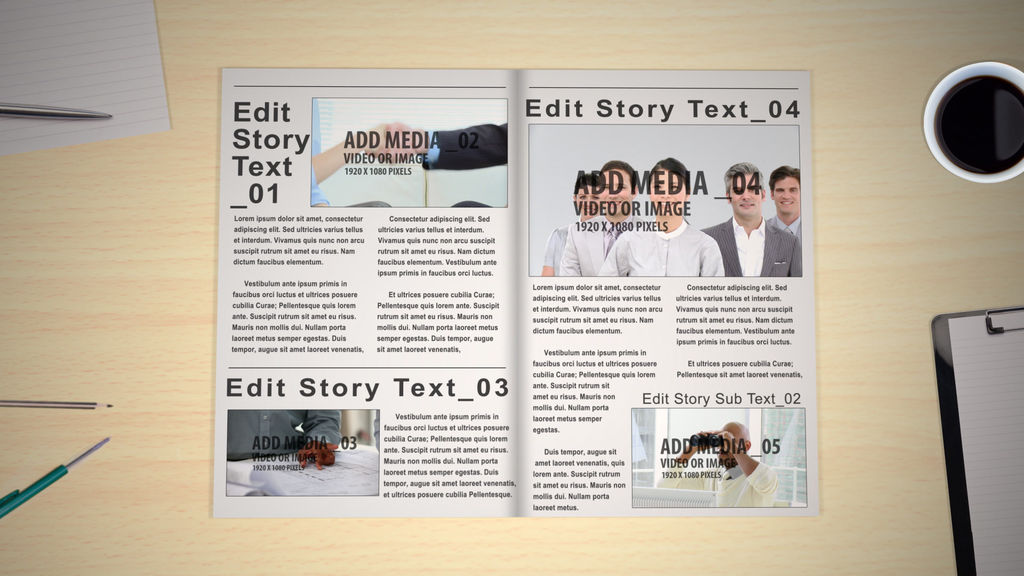 Newspapermagazine After Effects Templates 4152166