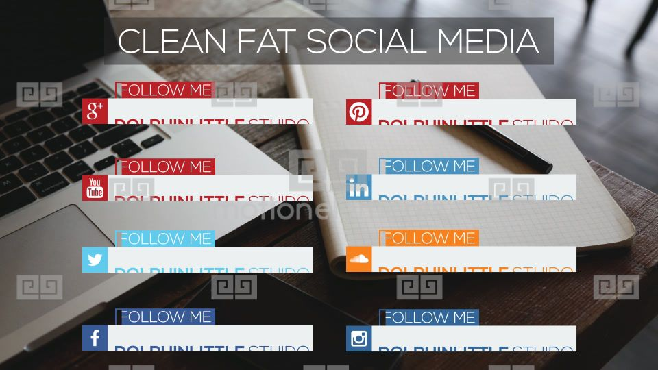 Flat Social Media Lower Thirds After Effects Templates 8980086